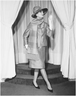"Jules-François Crahay, designed for Nina Ricci's 1962 ""Tomboy"" collection. © Bettmann/CORBIS."