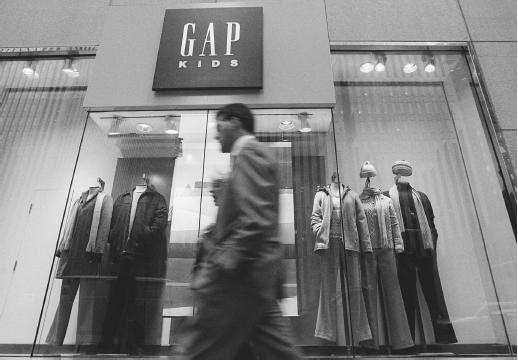 The Gap store on Sixth Avenue, New York City, winter 2000. Y AP/Wide