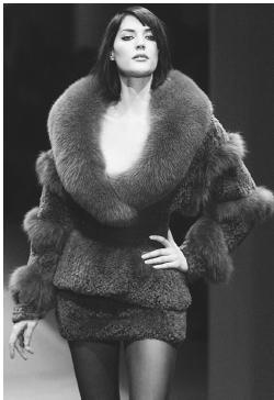 Claude montana fall winter 2001 ready to wear collection faux fur