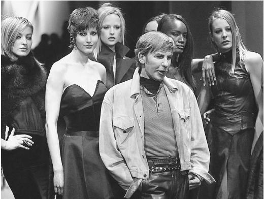 Claude Montana after showing his fall/winter 2001 ready-to-wear collection. © AP/Wide World Photos.