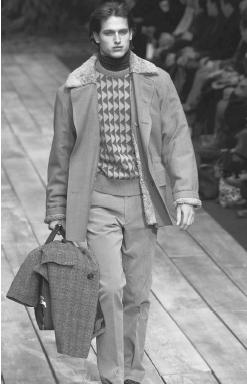 Paul Smith, fall/winter 2001 collection. © AP/Wide World Photos.